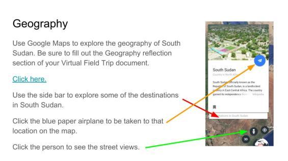 Virtual Field Trip--South Sudan (1)